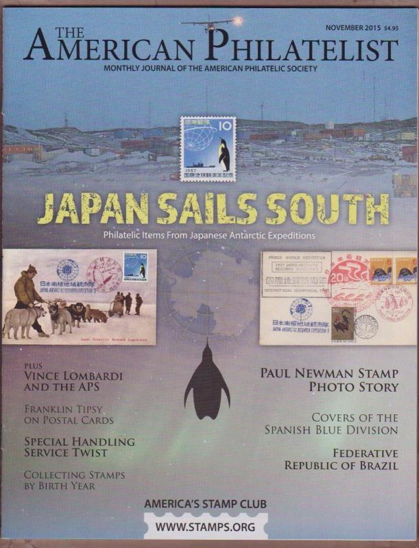 APS Magazine Nov 2015 , Japan Sails South / Antarctica  - I Comine S/H