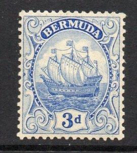 Bermuda 1922 3d ultramarine Ship wmk MSCA SG 83 mint