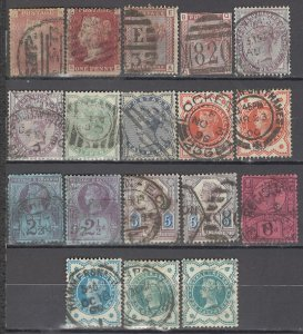 COLLECTION LOT OF #1077 GREAT BRITAIN 18 STAMPS 1864+ CLEARANCE CV + $97