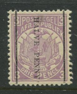 Transvaal - Scott 140 - Surcharge Issue -1885 - MNH - Single 1/2p on a 3p Stamp