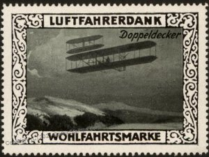Germany Biplane WWI Air Force Doppeldecker Luftfahrerdank Flight MNH  Ci G102803