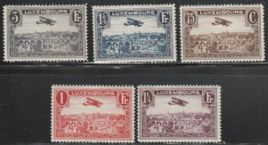 Luxembourg #C2-C6 Mint Hinged Short Set of 5