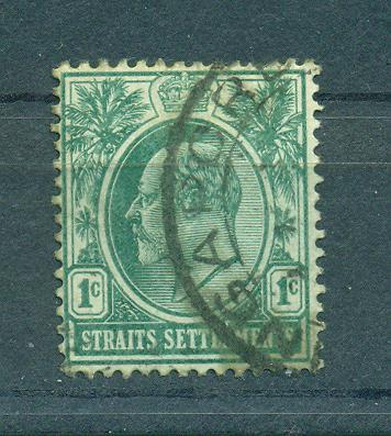 Straits Settlements sc# 129 (2) used cat value $1.25