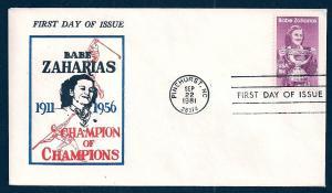 UNITED STATES FDC 18¢ Babe Zaharias 1981 Davis
