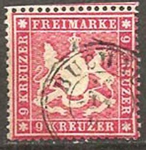 Wurttemberg 22 perf 13 1/2 u
