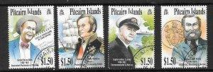 PITCAIRN ISLANDS SG614/7 2002 PITCAIRN CELEBRITIES FINE USED