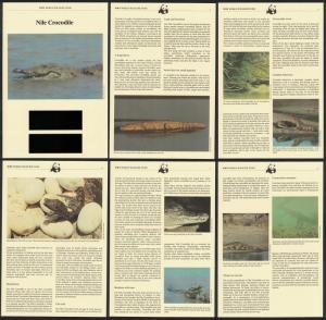 Gambia WWF Nile Crocodile Info Pages SG#544-547 MI#517-520 SC#515-518 CV£20+