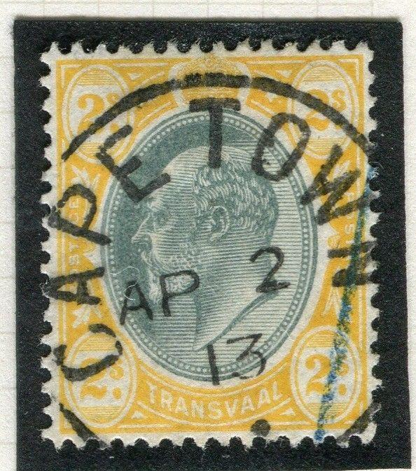 TRANSVAAL Interprovincial Period Ed VII CAPE TOWN Postmark on 2s.