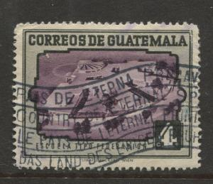 Guatemala - Scott 342 - General Issue - 1951 - Used - Single 4c Stamp