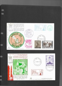 USA  Vatican City 1960's covers commerorating the US space program