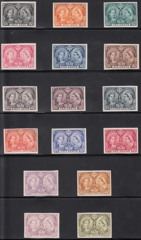 CANADA #50P3-65P3 COMPLETE SET PLATE PROOFS ON INDIA PAPER WL4208 RMA