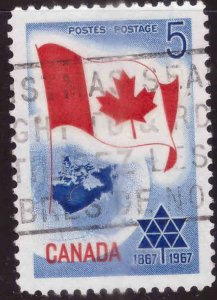 Canada Scott 453 Used stamp typical cancel