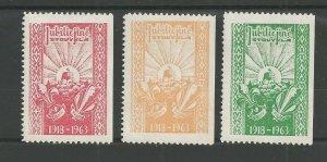1963 Lithuania Boy Girl Scout Camp set 3 labels JUBILIEJINE STOVYKLA