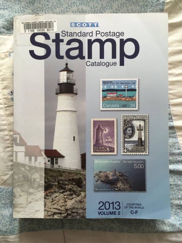 Scott 2013 Standard Postage Stamp Catalogue Vol 2: C - F Countries ExLibrary