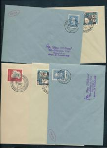 Germany West 1950s Covers Cinderellas Reprints x 14 (Au14058