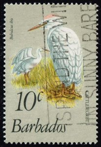 Barbados #499 Cattle Egrets; Used (0.40)