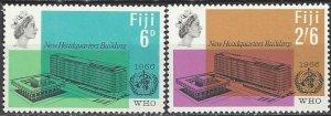 Fiji  224-5  MNH  WHO Headquarters  1966