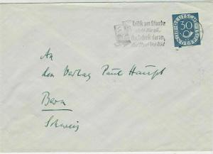 Germany Man looking in Mirror Slogan Cancel Stamps Cover to Bern Ref 29159