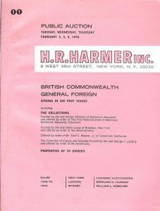 HR Harmer: Sale # 1938-1940  -  British Commonwealth, Gen...
