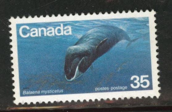 Canada Scott 814 MH* whale stamp