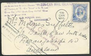 TONGA 1938 Tin Can Mail cover : SS Maunganui...............................60902