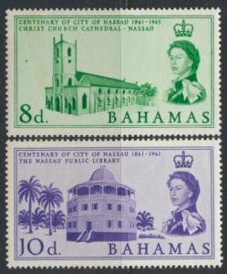 Bahamas  SG 221-222 SC# 178-179 MNH Nassau Centenary see scan