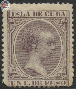 Cuba 1896 Scott 135 | MLH | CU18124