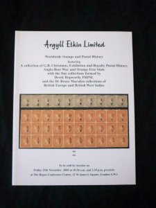 ARGYLL ETKIN AUCTION CATALOGUE 2005 WITH  ANGLO-BOER 'DEREK HEPWORTH' COLLECTION