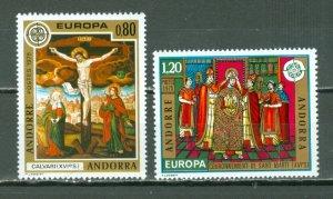 ANDORRA FRENCH 1975 EUROPA #236-37...SET...MNH...$11.00