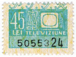 (I.B) Romania Revenue : TV Licence Savings Stamp 45L