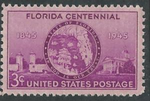 USA # 927 Florida Centennial  (1) Mint NH