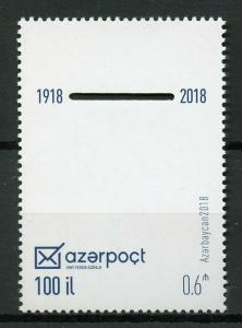 Azerbaijan 2018 MNH Azerpost 100 Years 1v Set Postal Services Stamps