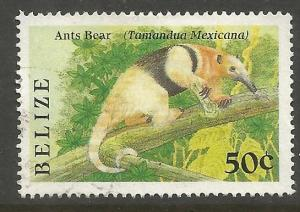 BELIZE  912  USED,  INDIGENOUS SMALL ANIMALS, ANT BEAR