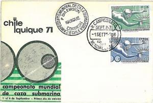 FISHING FISH: POSTAL HISTORY:  CHILE CHILI - FDC - 1971