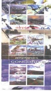 Malawi 2010 - 3 M/S Concorde Airplane Flight Transport Aviation Stamps MNH Rare