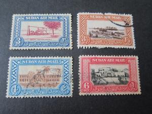 Sudan 1950 Sc C37-C39,C41 FU