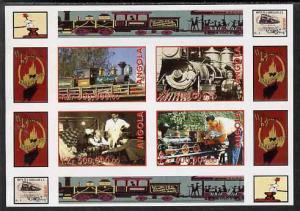 Angola 1999 Walt Disney's Railroad History #1 imperf shee...