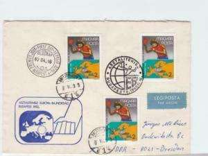 hungary table tennis 1982 special cancels stamps cover ref r16090A