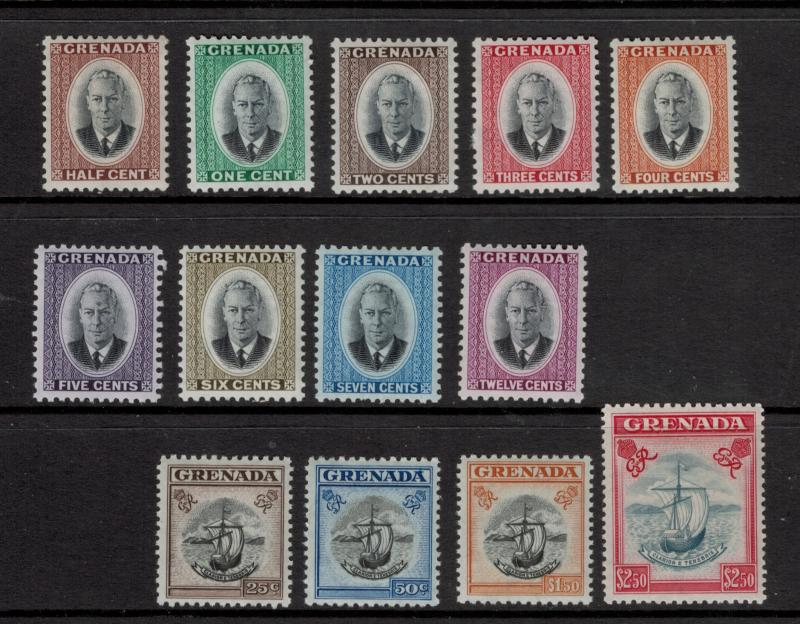Grenada Stamp Set Scott #151 to 163 (151-63), Mint, High Values Never Hinged ...