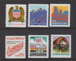 US 1995-8 Non Profit & Presorted Selection Stamps NG