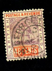 BRITISH GUIANA #144 USED PAPER HR Cat $35