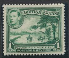 British Guiana SG 308  Yellow Green perf 12½ Mint Hinged (Sc# 230 see details)