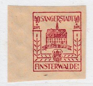 Finsterwalde WWII Germany World War II Local Stamp 1946 40+35pf MNH** A20P4F192