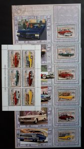 Vintage cars - Congo 2006 - sheet + complete set of 6 ss perforated ** MNH