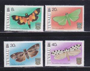 Tuvalu 138-141 Set MNH Insects, Moths (B)