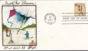 Beautiful Pugh Painted Forerunner 1979 Truth & Reason FDC #37 of 88...Rare!