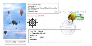 Australia, Worldwide First Day Cover, Balloons