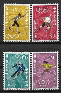 1971 Liechtenstein 492-5 Winter Olympics C/S of 4 MNH