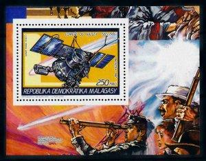 [102052] Madagascar 1987 Space travel weltraum Halley comet Vega 2 Sheet MNH