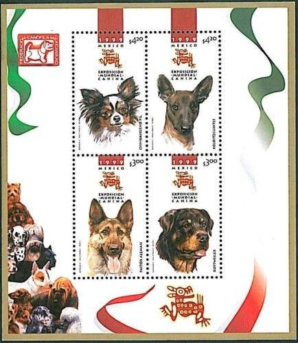 STAMPS -  NATURE - DOGS - MEXICO 1999